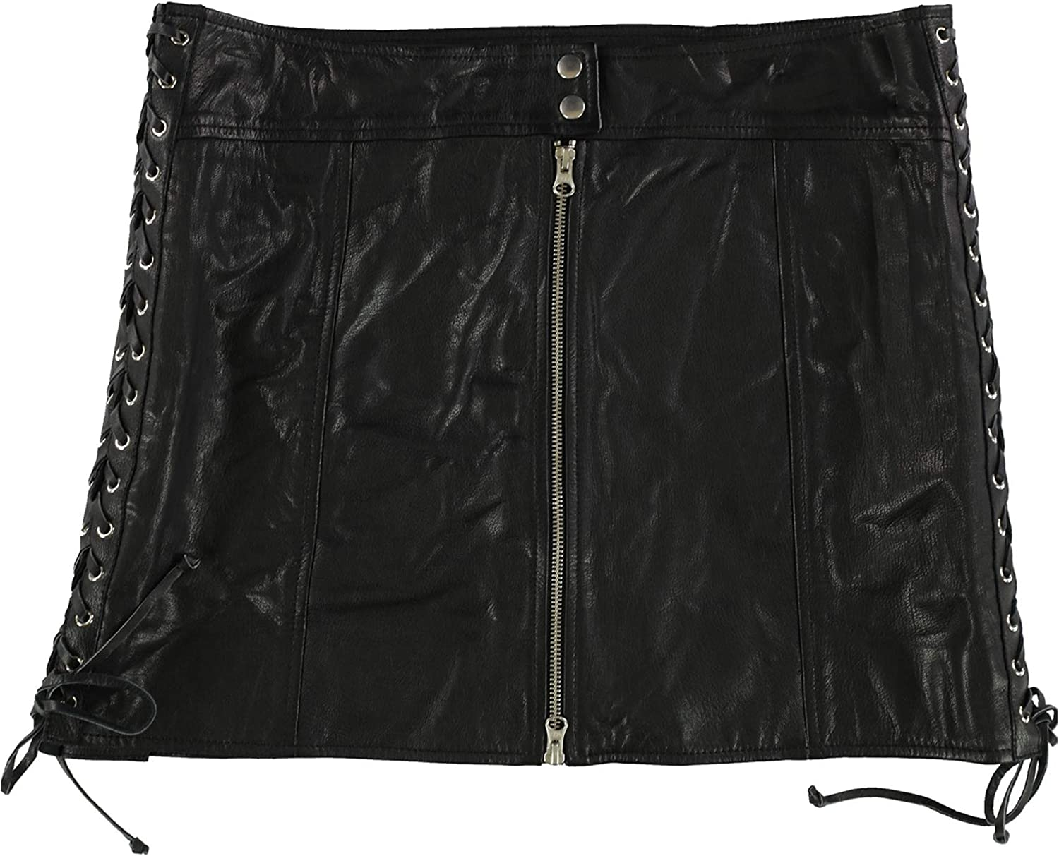 McQ Womens Lace-Up A-Line Skirt