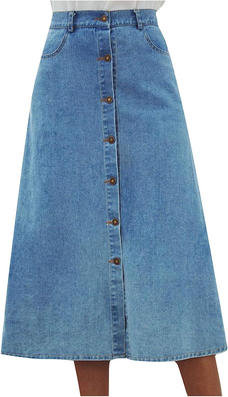 Women's Juniors Casual Distressed A-Line Denim Short Skirt