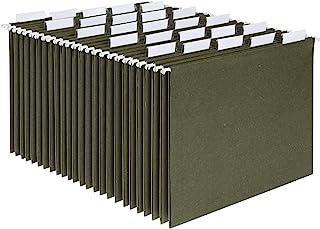 Pendaflex Hanging File Folders, Letter Size, Standard Green, 1/5-Cut Adjustable Tabs, 25 Per Box (81602), Standard Green -...