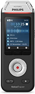Philips VoiceTracer Audio Recorder for interviews and Notes DVT2110