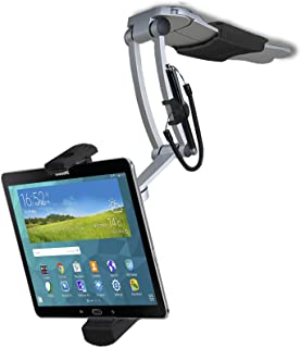 Tablet Mount, CTA Digital 2-in-1 Multi-Flex Tablet Stand and Wall Mount for Apple iPad 10.2-inch (7th Gen)/11-inch iPad Pro/12.9-inch iPad Pro/iPad Gen 6/iPad Air 3/Galaxy Tabs & more, (Black)