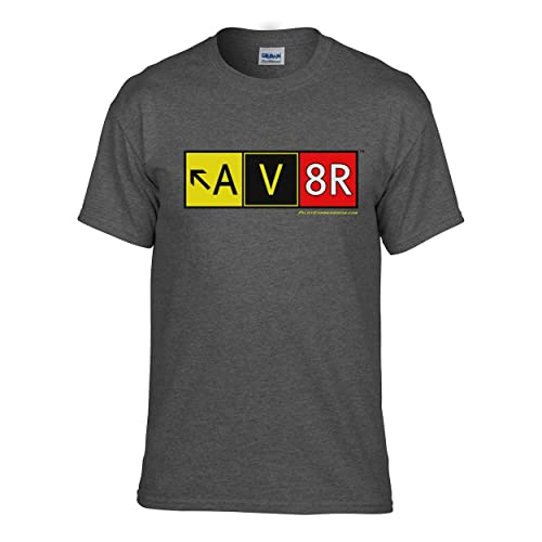 Pilot Expressions Mens AV8R Taxiway Sign T Shirt