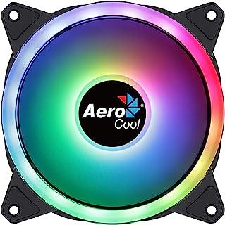 Aerocool DUO12, Ventilateur 120mm, ARGB LED Dual Ring, Anti-Vibration, 6 Pins