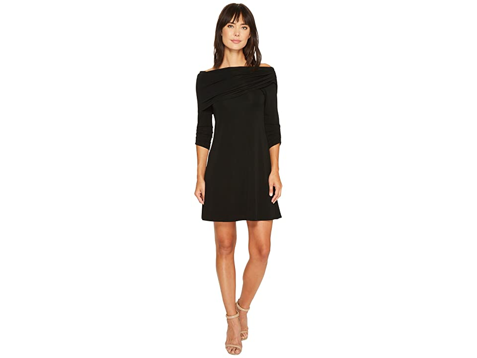 Karen Kane Jackie Boat Neck Dress (Black) Women