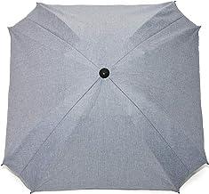 Sombrilla para carro de bebé, con brazo de fijación flexible, protección UV, diámetro de 68cm, forma cuadrada beige