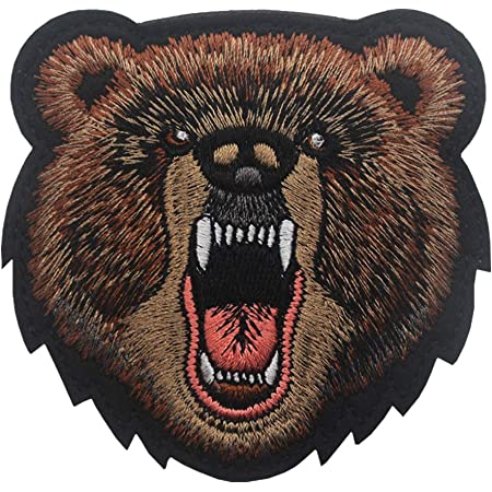Wild Bear iron on patch  Iron on Patch Patches for jackets Wild Stream