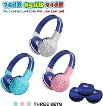 3 Pack SIMOLIO Bluetooth Headphones for Kids,Hearing Protection Children Headphones Wireless,Bluetooth Kids Headphone with Music Share,Kids Safe Headsets for Girls,Boys,Wireless Headphone for Toddlers