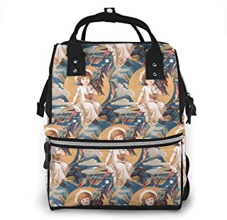 Xmas Moon Multi-Function Travel Backpack Nappy Bag,Fashion Mummy Bag