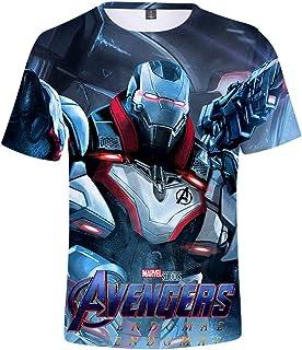 Hombre Camiseta Avengers Superhero Captain America, Iron Man Cosplay Manga Corta