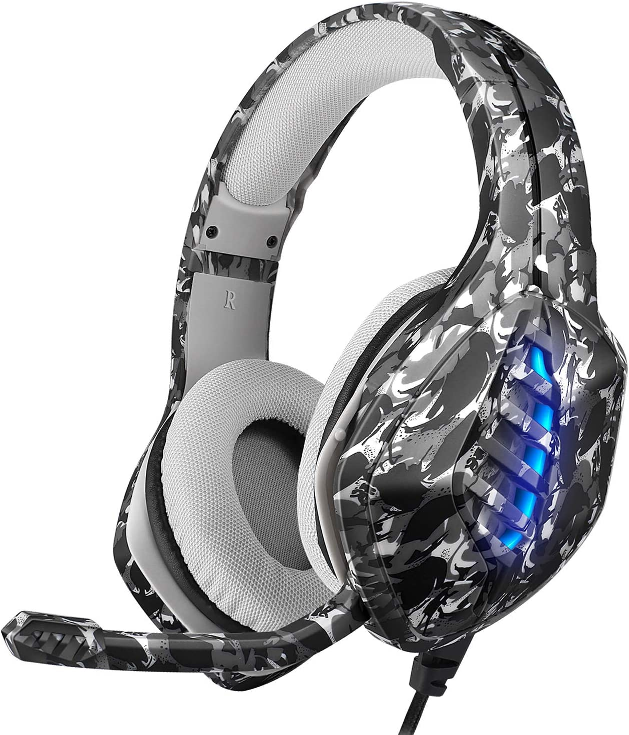 SOSOFLY Explosive Camouflage Max 88% OFF Head-Mounted Headset Lig RGB Gaming OFFicial mail order