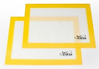 Artestia Premium Silicone Baking Mat, Non Stick Heat Resistant Liners for Cookie Sheets, Quarter Sheet Size, Set of 2 (Lemon Yellow)