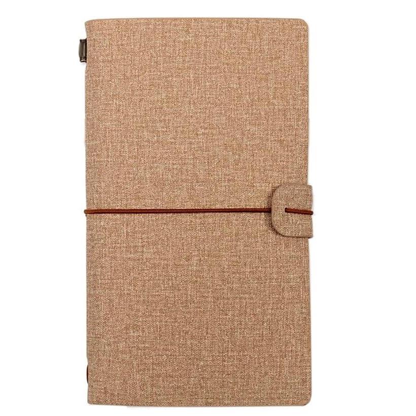 書き込み ノートA6ハンドブック、メモリーブックのクリエイティブトラベルジャーナル、日記オーガナイザー、2個 学生の (Color : Khaki)