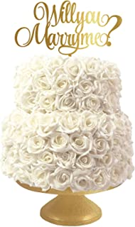Cake Toppers Will You Marry Me, Lasercut, Acrylic Or Wood, Reusable, Custom Made Party Supplies Decorations, Handmade Cupcake Topper, Cake Decor, Multiple Colors Options