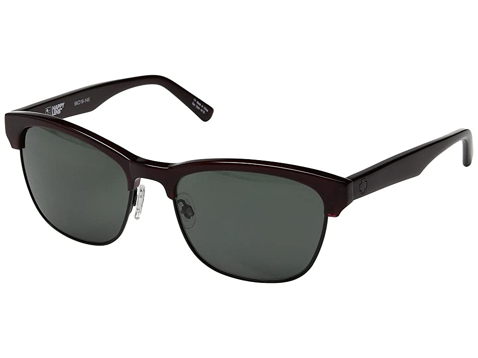 Spy Optic Loma (Translucent Garnet/Matte Black/Happy Gray Green) Sport Sunglasses