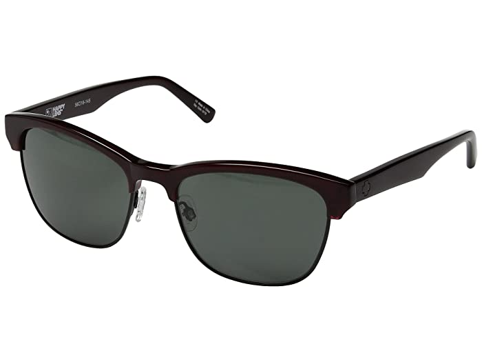 Spy Optic Loma (Translucent Garnet/Matte Black/Happy Gray Green) Sport Sunglasses