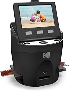 Kodak SCANZA Digital Film Scanner, Converts 35mm, 126, 110, Super 8 and 8mm Film Negatives and Slides To JPEG Includes Large Tilt Up 3.5 LCD and EasyLoad Film Inserts