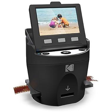 KODAK SCANZA Digital Film & Slide Scanner - Converts 35mm, 126, 110, Super 8 & 8mm Film Negatives & Slides to JPEG - Includes Large Tilt-Up 3.5  LCD, Easy-Load Film Inserts, Adapters & More