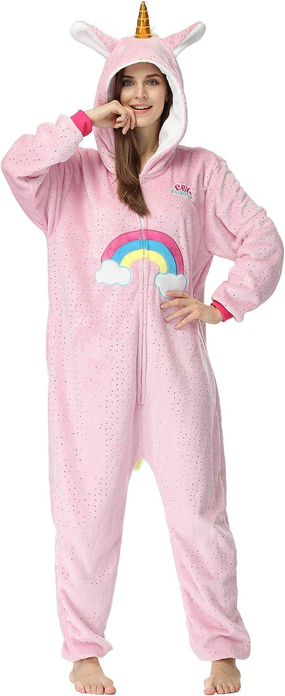 RONGTAI Unicorn Onesie Pajamas Cosplay Costume for Adult