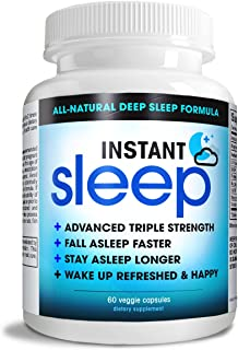 Instant Sleep Complete Natural Sleep Aid Formula Maximum Strength Sleep Support Blend of L-Theanine, 5-HTP,...