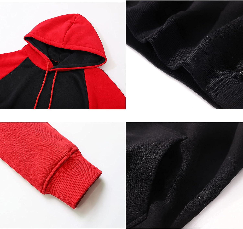 Unisex Totoro Anime Hoodie Sweatshirt Pullover Long Sleeve Drawstring Sweater Casual Jumper with Kanga Pocket