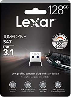 Lexar Jumpdrive S47 128GB USB 3.1 Flash Drive Black Upto 250MB/s