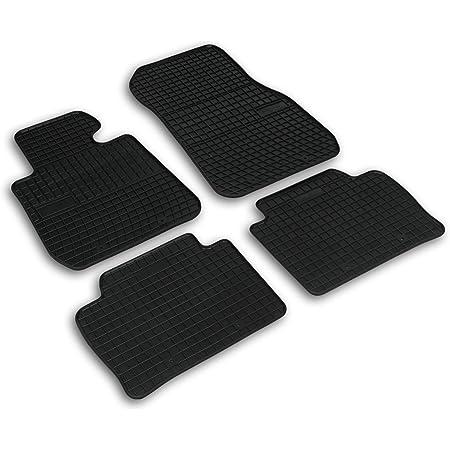 Frogum 0670 Gummimatten Auto Fußmatten Gummi Passgenau 4 Teiliges Automatten Set Schwarz Auto