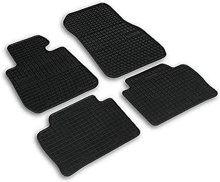 Frogum 0670 Gummimatten Auto Fußmatten Gummi Passgenau 4 teiliges Automatten Set Schwarz