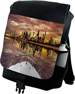 Ambesonne Travel Backpack, Kuwait Cityscape, Durable All-Purpose Bag