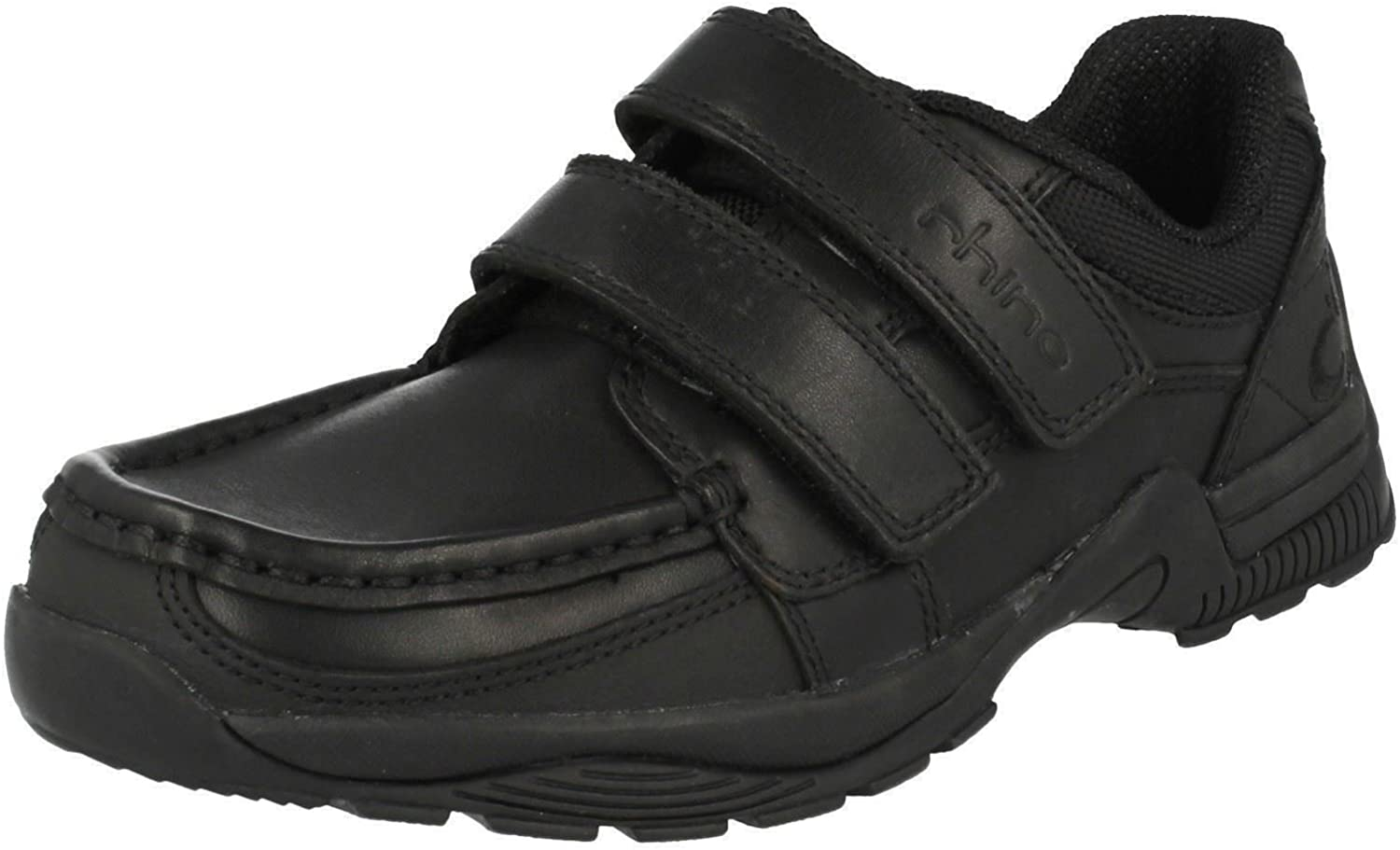 Senior Boys Rhino By Startrite School shoes Miles Black Leather Size 4H