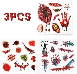 3PCS Halloween dress up tattoo stickers, waterproof tattoo stickers