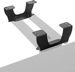 VIVO Steel Dual Spacer Brackets for Under Desk Keyboard and Mouse Slider Tray | Height Track Spacer Mount Fitting Desk Frames up to 3.2 inches (MOUNT-SPACER01)