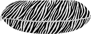 Ambesonne Zebra Print Travel Pillow Neck Rest, Repeating Animal Skin Ornament Jungle Savage Animal Safari Life, Memory Foam T