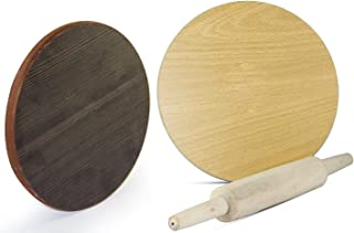 In-house Manual Wooden Roti Chapati Flatbread Tortilla Presser Maker with Rolling Pin 10-Inch