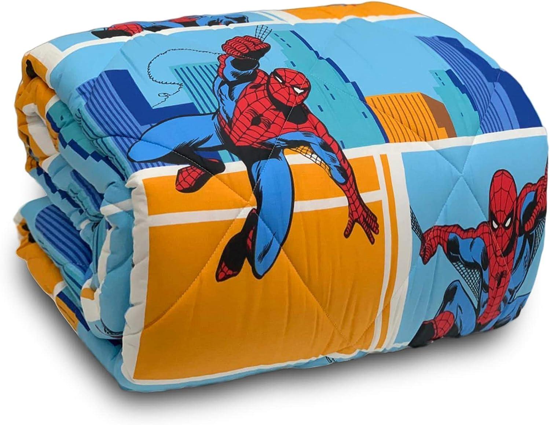Caleffi Trapunta Marvel Spiderman piumone Invernale Letto Singolo 1 Piazza 3626