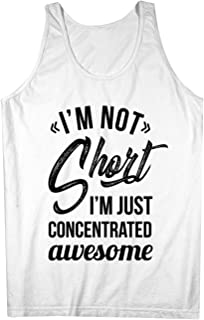 I'm Not Short I'm Just Concentrated Awesome おかしいです 男性用 Tank Top Sleeveless Shirt