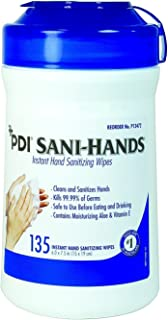 Sani Hands Alc Antimicrogel Hand Wipes 135 per canister