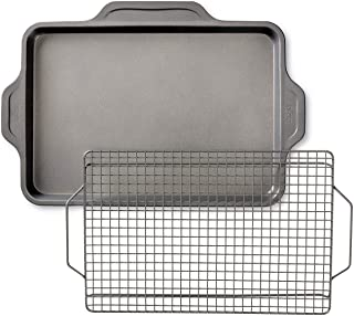 All-Clad Pro-Release bakeware sheet with rack, 17 In x 11.5 In x 1 In, Grey