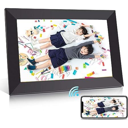 BIGASUO デジタルフォトフレーム WiFi 10.1型 IPS高精細タッチ液晶 1280*800解像度 16GB内蔵 360度回転可能 写真動画自動に放送 アプリFrameo対応 日本語取扱説明書 一年保証 ブラック