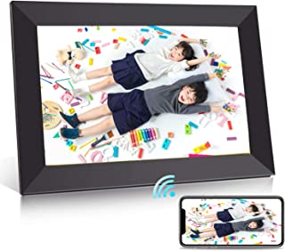 BIGASUO デジタルフォトフレーム WiFi 10.1型 IPS高精細タッチ液晶 1280*800解像度 16GB内蔵 360度回転可能 写真動画自動再生 スライドショー アプリFrameo対応 日本語取扱説明書 一年保証 ブラック
