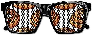 Happy Smiling Danish Pastries Full Resin Frame Sunglasses for Men Mens Sunglasses Driving Rectangular Sun Glasses for Men/Women