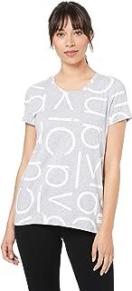 Calvin Klein Womens PF9T1544 Logo Scater Print Crew Neck Short  Sleeve T-Shirt