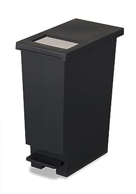 トンボ ゴミ箱 20L 日本製 フタ付き プッシュタイプ ペダル式 ブラック ユニード 新輝合成 20S