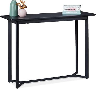 relaxdays Table Console, métal et MDF, Meuble d'appoint pour Salon, Couloir et entrée, HxLxP 80,5 x 110 x 40 cm, Noir, 1 unité