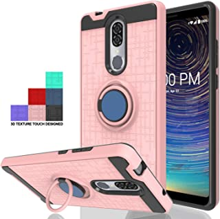 Wtiaw:Coolpad Legacy Case,Coolpad Alchemy Case,Coolpad Legacy/Coolpad Alchemy Phone Cases,Coolpad 3705A Case,360 Degree Rotating Ring Kickstand Hybrid Defender Case for Coolpad Legacy-CH Rose Gold