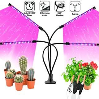 Grow Light Bulb Indoor Plant - Grow Light For Indoor Plants - Led Grow Light - Plant Lights With Clip - Growing Lamp For Plants Growth with Timer