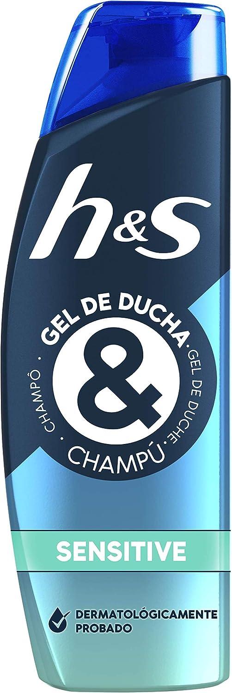 HS Champú Y Gel De Ducha Para Pelo, Cuerpo Y Cara Para Hombre, Sensitive, con Aloe Vera 300 ml