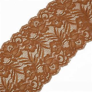 f8f0e6b997b6 Cinta de encaje floral elástica de tul de 15 cm de ancho para manualidades,  manualidades