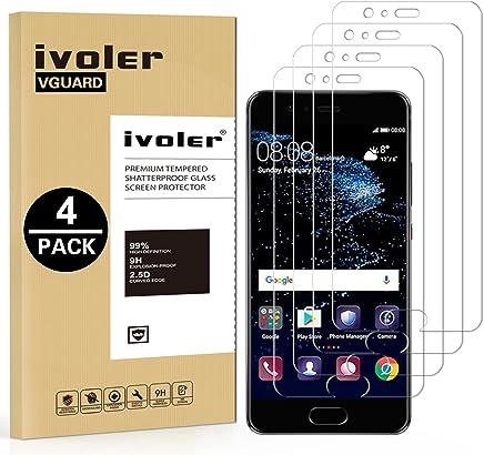 iVoler [4 Pack] Pellicola Vetro Temperato per Huawei P10 Plus [Garanzia a Vita], Pellicola Protettiva, Protezione per Schermo