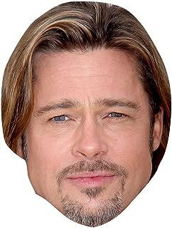 Brad Pitt Celebrity Mask, Card Face and Fancy Dress Mask