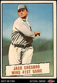 1961 Topps # 407 Baseball Thrills Jack Chesbro New York Yankees (Baseball Card) Dean`s Cards 2 - GOOD Yankees